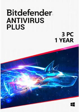 Bitdefender Antivirus Plus (3 PC / 1 Year)