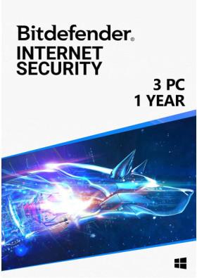 Bitdefender Internet Security (3 PC / 1 Year)