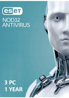 ESET NOD32 Antivirus  (3 PC / 1 Year)