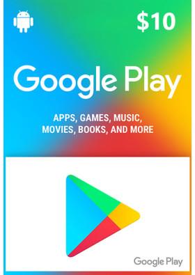 Google Play $10 Prepaid Card - USA