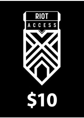 Riot Access Code Prepaid - $10 - 1380 RP (USA)