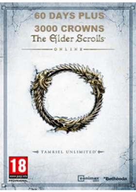 The Elder Scrolls Online: Tamriel Unlimited 60 Days Plus Membership + 3000 Crowns