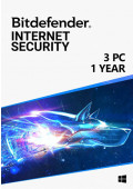 Bitdefender Internet Security (3 PC / 1 Year)