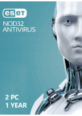ESET NOD32 Antivirus  (2 PC / 1 Year)