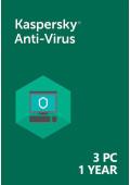 Kaspersky Anti-Virus (3 PC / 1 Year)