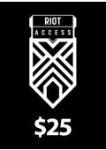 Riot Access Code Prepaid - $25 - 3500 RP (USA)