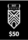 Riot Access Code Prepaid - $50 - 7200 RP (USA)